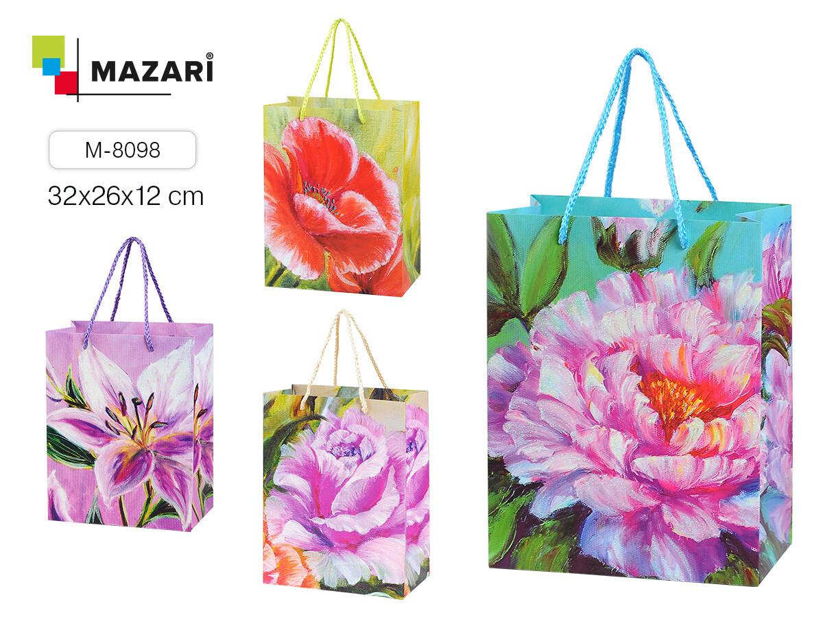 """Пакет подарочный 32*26*12 MAZARI """"Цветочная Симфония"""" M-8098"""