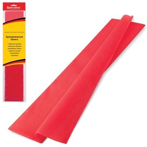 Бумага цветная крепированная BRAUBERG 50м*200см 124730 красная