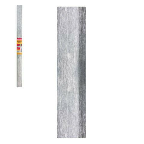 Бумага цветная крепированная BRAUBERG 50м*200см 127936 серебро