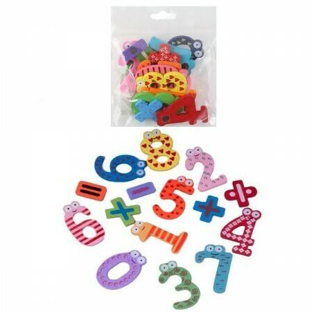 "Магниты обучающие MAZARI ""Цифры 0-9 +арифметические знаки"" деревян. M-6367"