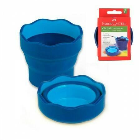 """Стакан для воды FABER-CASTELL """"Clic&Go"""" складной, пластик 181510 синий"""