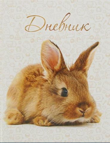 """Дневник школьный 1-11 классы CALLIGRATA """"Кролик"""" твердая обложка 1989189"""