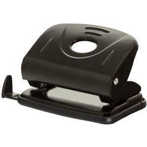 Дырокол 20л с линейкой Office Product 18052211-05 черный