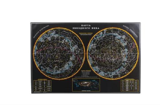 """Коврик-подкладка настольный 380*590мм ДПС """"Карта звездного неба"""" 235634"""