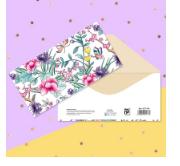 """Открытка‒конверт для денег """"Тропические цветы"""" 2721176"""
