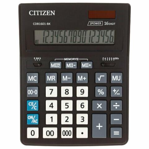 Калькулятор Citizen BUSINESS LINE CDB1601BK 16 разрядов 157*200мм