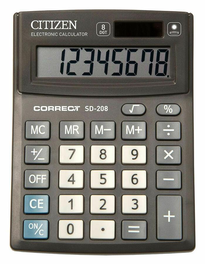 Калькулятор Citizen Correct SD-208 8 разрядов