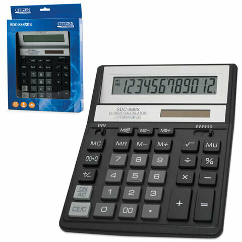 Калькулятор Citizen SDC 888Х 12 разрядов 158*203мм 250339