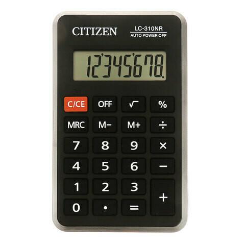 Калькулятор карманный Сitizen LC-310NR 8 разрядов 115*69мм