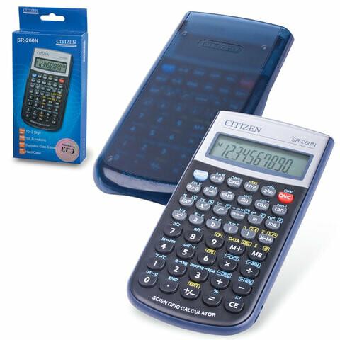 Калькулятор инженерный CITIZEN SR-260N 165 функций сертифицирован для ЕГЭ