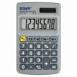Калькулятор карманный STAFF STF-1008 8 разрядов 103*62мм металлический