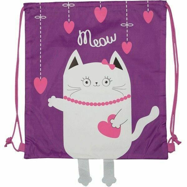 "Мешок для сменки deVENTE ""Kitty"" 7040994 сиреневый"