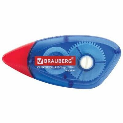 Корректор ленточный 5мм*8м BRAUBERG 227801 корпус синий