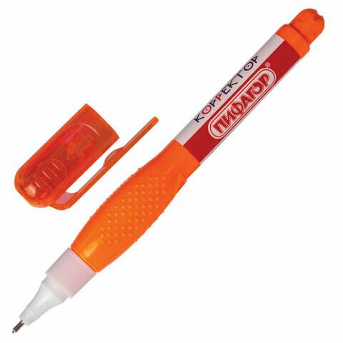Корректор-ручка 6мл ПИФАГОР метал.наконечник 227145