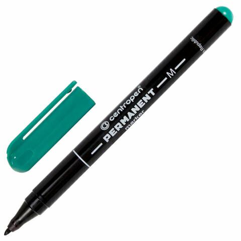 Маркер перманентный 1мм СENTROPEN тонкий наконечник 151115 зеленый