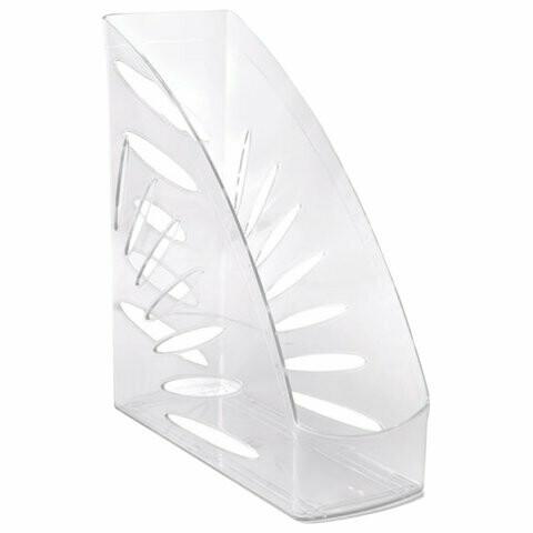 "Лоток для бумаг вертик. 110мм пластик СТАММ ""Тропик"" ЛТ352 прозрачный"