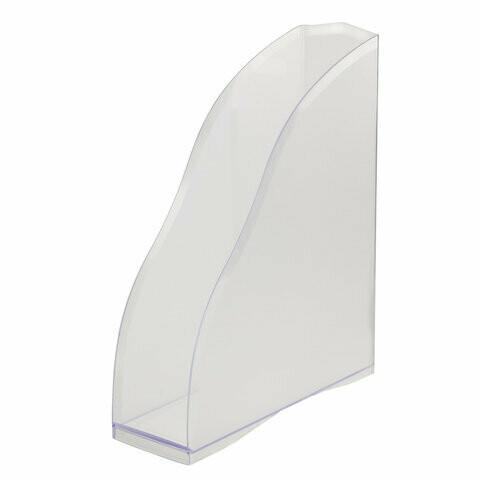 "Лоток для бумаг вертик. 85мм пластик BRAUBERG ""Cosmo"" 237008 прозрачный"