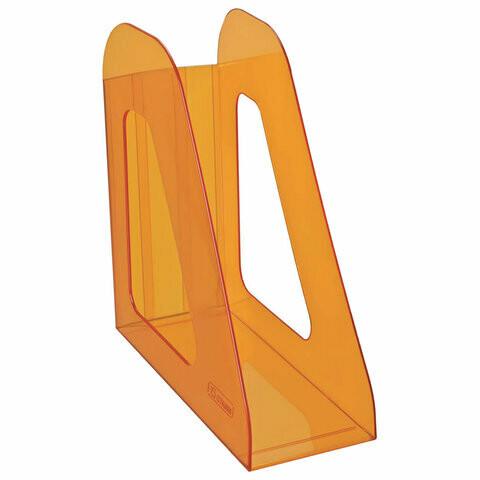"""Лоток для бумаг вертик. 90мм пластик СТАММ """"Фаворит"""" ЛТ716 оранж"""