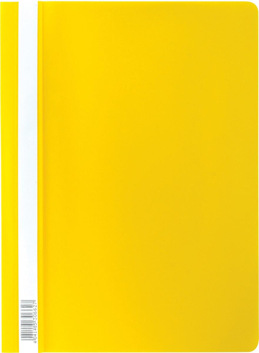 Скоросшиватель А4 ERICH KRAUSE пластик плотный 30662 желтый