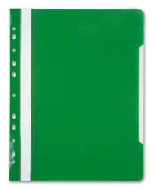 Скоросшиватель с перфорацией А4 BIURFOL пластик плотный, зеленый