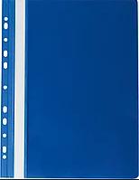 Скоросшиватель с перфорацией А4 BIURFOL пластик плотный, синий