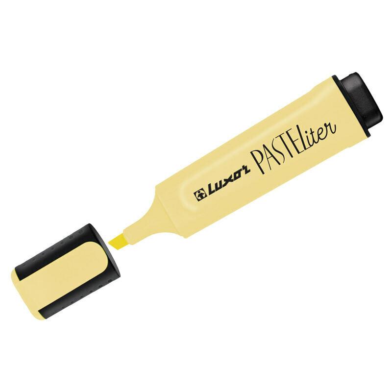"Текстмаркер 1-5 мм LUXOR ""Pasteliter"" 4021P желтый пастель"