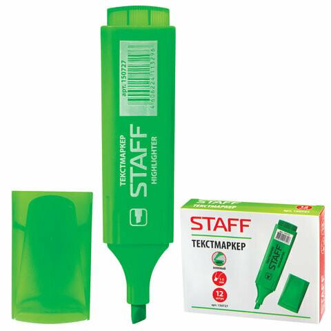 Текстмаркер 1-5 мм STAFF 150727 зеленый