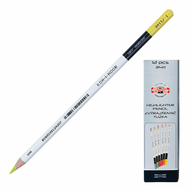 Текстмаркер-карандаш сухой KOH-I-NOR 150891 лимон
