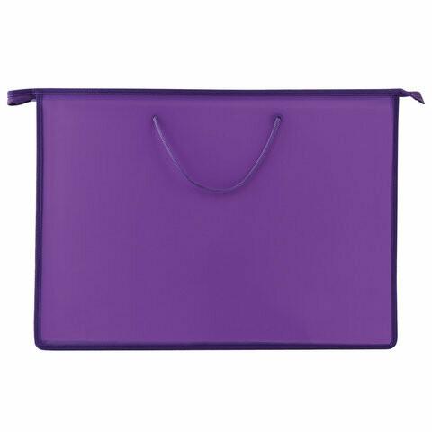 Папка А3 с ручками ПИФАГОР пластик 228231 фиолетовая