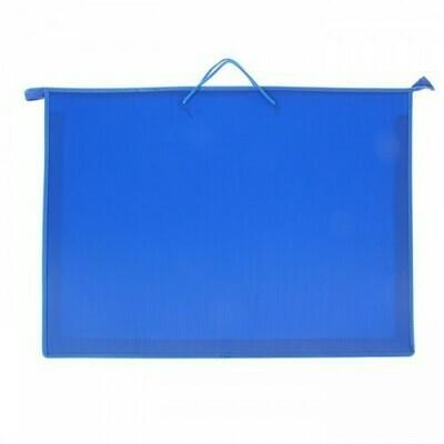 Папка А2 с ручками ПЧЕЛКА пластик 1411341 синяя
