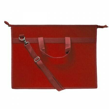 Папка А3 с ручками, плечевой ремень ОНИКС пластик 50969 бордовый