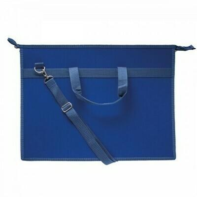 Папка А3 с ручками, плечевой ремень ОНИКС пластик 49584 синяя