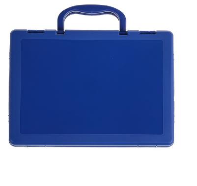 Портфель-кейс А4 1 отделение СТАММ  пластик КС11 тонир.синий