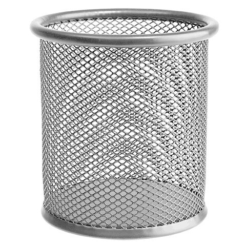 Стакан для канц.принадл. ERICH KRAUSE метал круг серебро 22502