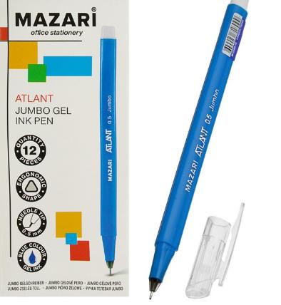 """Ручка гелевая 0.5мм MAZARI """"Atlant"""" игольч.узел M-5549-70 синяя"""