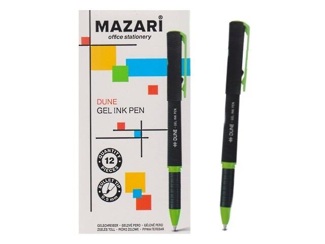 """Ручка гелевая 0.5мм MAZARI """"Dune. Soft"""" M-5544-71 черная"""
