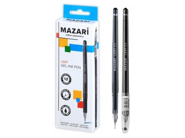 """Ручка гелевая 0.5мм MAZARI """"Lexy"""" игольч.узел M-5507-71 черная"""