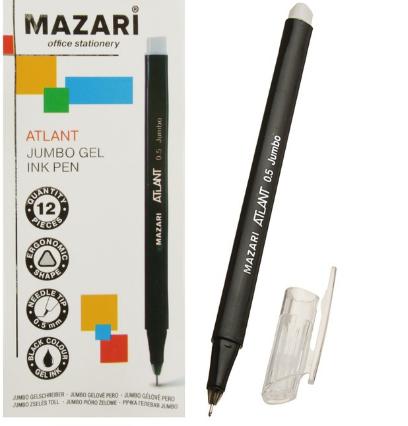"""Ручка гелевая 0.5мм MAZARI """"Atlant"""" игольч.узел M-5549-71 черная"""