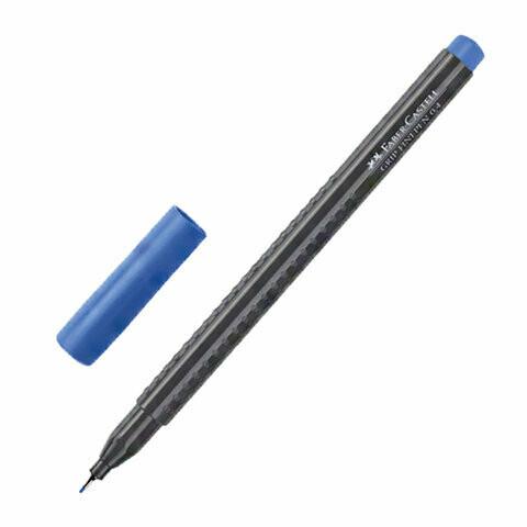 """Ручка капиллярная 0.4мм FABER-CASTELL """"Grip Finepen"""" трехгран. 151651 синяя"""