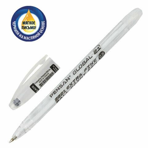 """Ручка масляная 0.5мм PENSAN """"Global-21"""" 2221 черная"""