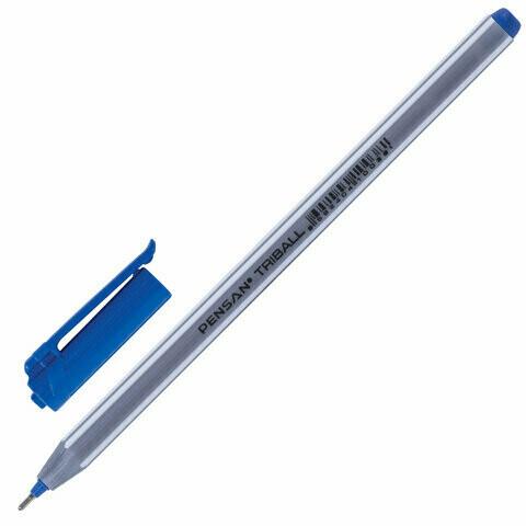 """Ручка масляная 0.5мм PENSAN """"Triball"""" 142703 синяя"""
