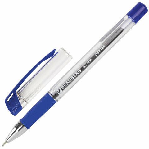 """Ручка масляная 0.7мм BRAUBERG """"Active"""" игольч.узел 142683 синяя"""