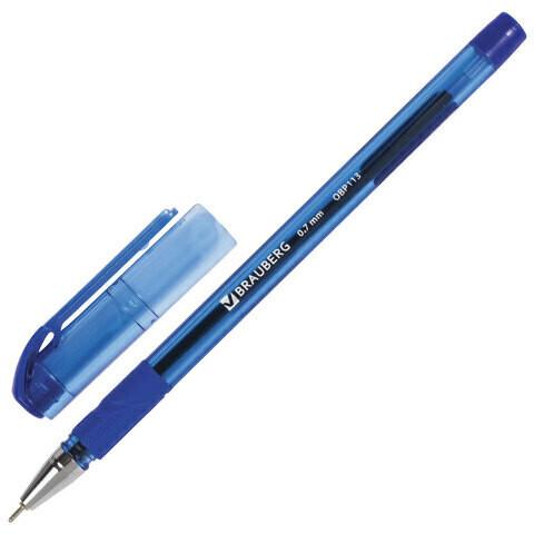 "Ручка масляная 0.7мм BRAUBERG ""Max-Oil Tone"" игольч.узел 142693 синяя"