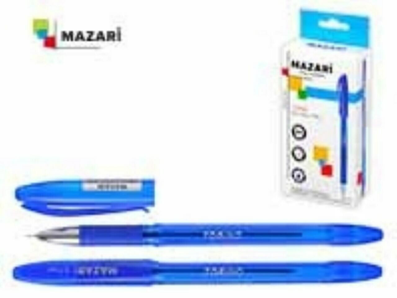 """Ручка масляная 0.7мм MAZARI """"Torino"""" игольч.узел M-5701-70 синяя"""