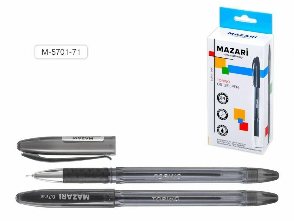 """Ручка масляная 0.7мм MAZARI """"Torino"""" игольч.узел M-5701-71 черная"""