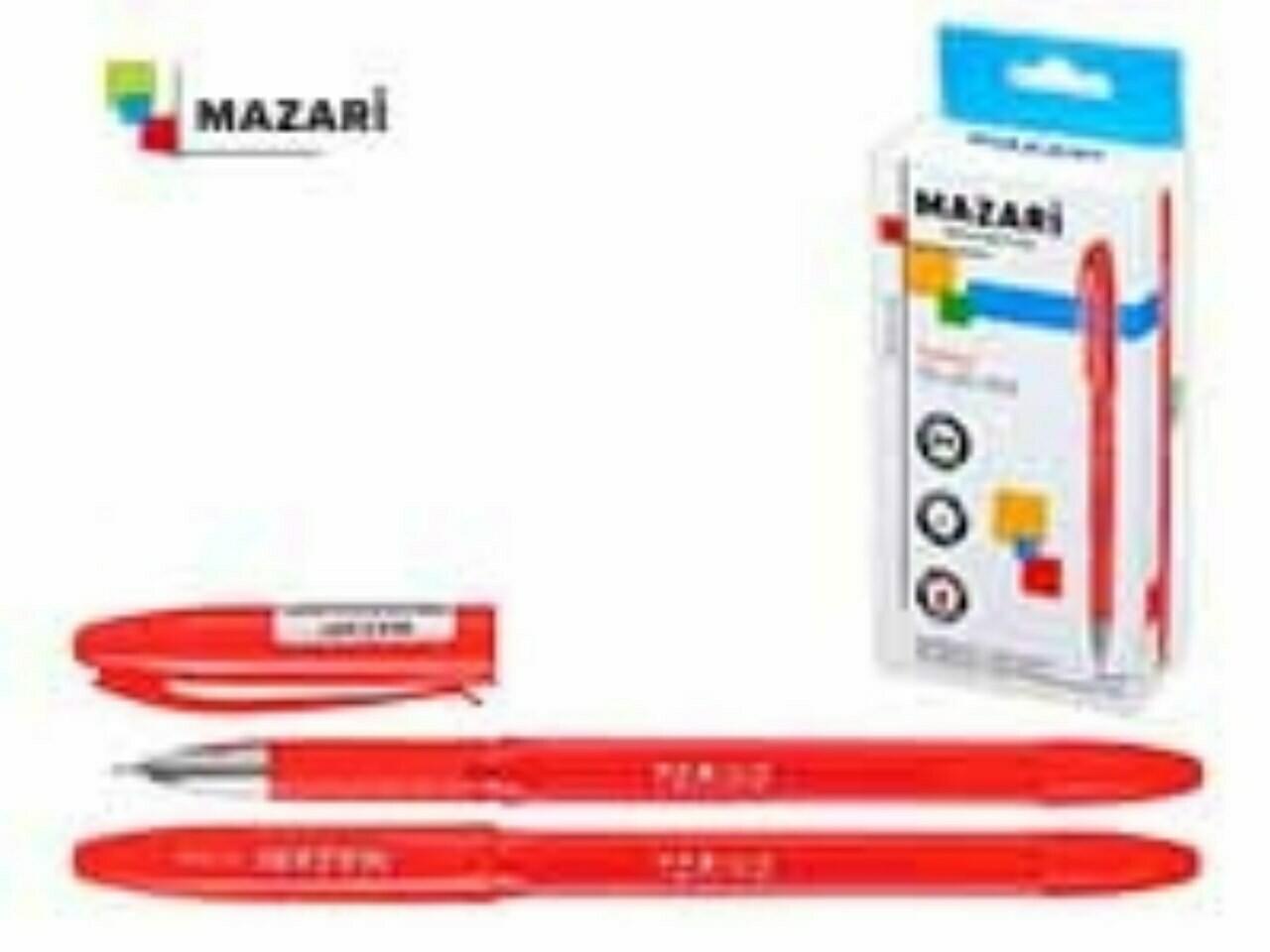 """Ручка масляная 0.7мм MAZARI """"Torino"""" игольч.узел M-5701-72 красная"""