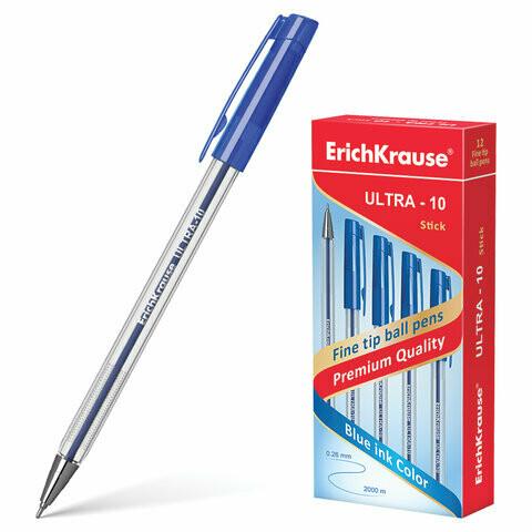 """Ручка масляная 0.7мм ERICH KRAUSE """"Ultra-10"""" EK13873 141247 синяя"""
