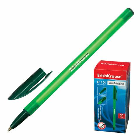 """Ручка шариковая 0.5мм ERICH KRAUSE """"R-101"""" EK33514 зеленая"""