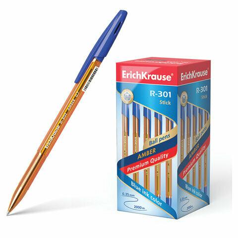 "Ручка шариковая 0.7мм ERICH KRAUSE ""R-301 Amber"" 31058 синяя"