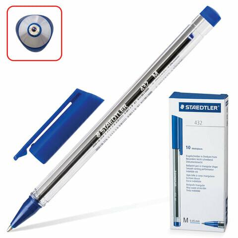 "Ручка шариковая 1мм STAEDTLER ""Ball"" 432М-3"
